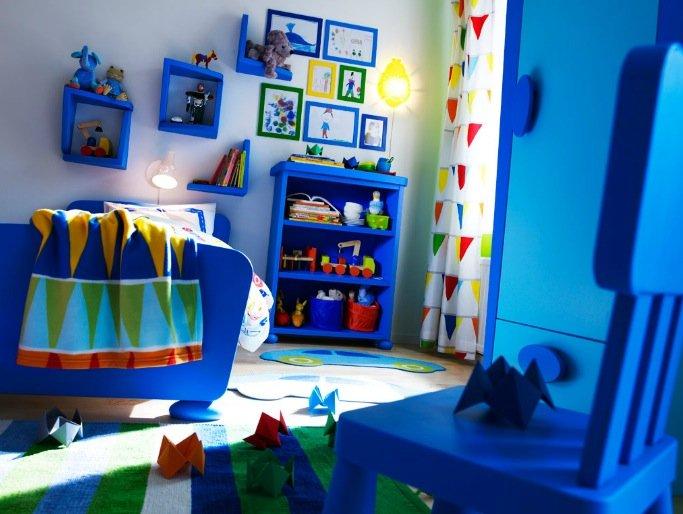 chambre ikea bleu