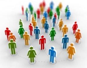 réseaux de personnes virtuels