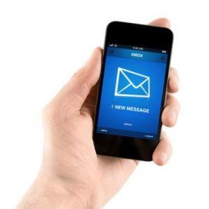 reception d'un message sur telephone