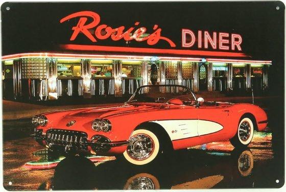 Plaque déco Rosie's Diner