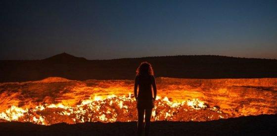 La porte de l'enfer au Turkménistan