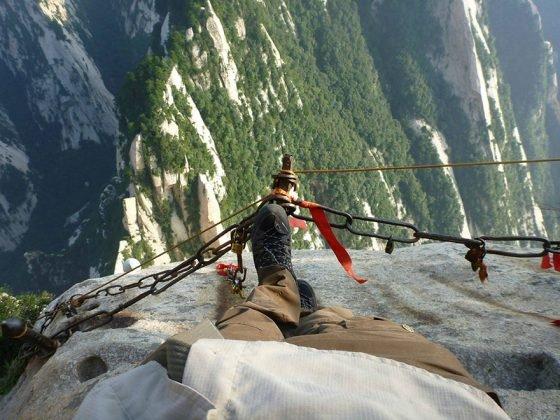 Le mont Hua en Chine